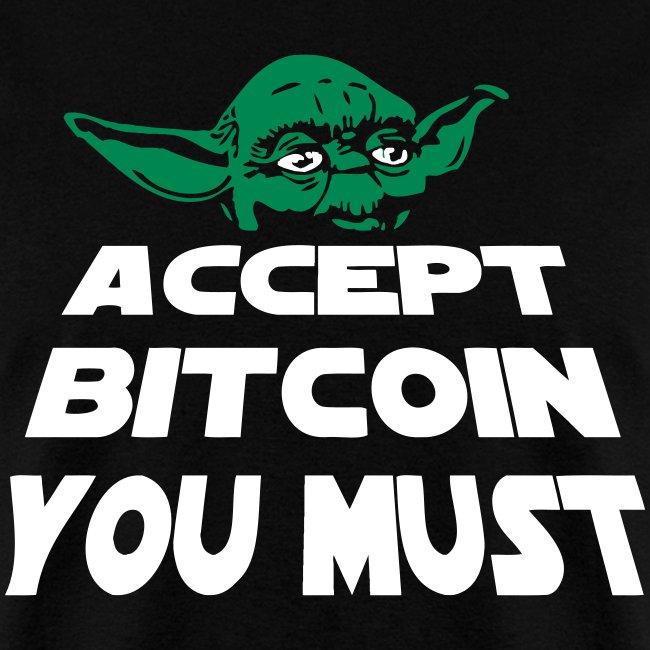 Yoda Accept Bitcoin T Shirt