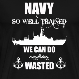 Well Trained Navy - Men's Premium T-Shirt
