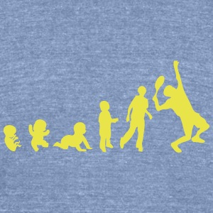 evolution tennis T-Shirts - Unisex Tri-Blend T-Shirt by American Apparel