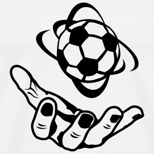 open hand soccer ball 1 T-Shirts - Men's Premium T-Shirt