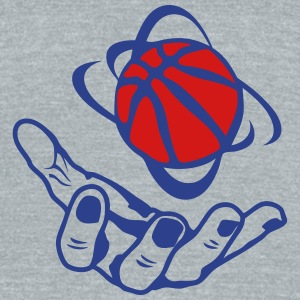 open hand basketball ball 1 T-Shirts - Unisex Tri-Blend T-Shirt by American Apparel