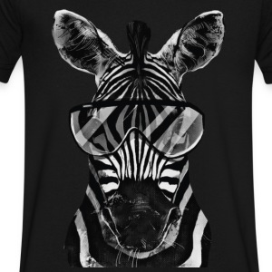Zebra | Black & White - Men's V-Neck T-Shirt by Canvas