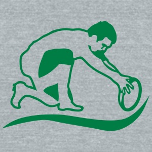 rugby ball club logo 13112 T-Shirts - Unisex Tri-Blend T-Shirt by American Apparel