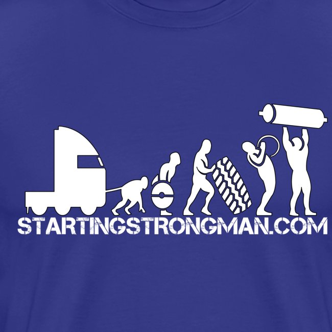 STRONGMAN EVOLUTION WHITE PRINT