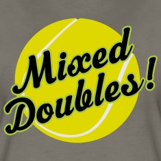 Tennis Mixed Doubles Gift Women's T-Shirts