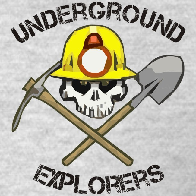 Underground Explorers Heather Gray Logo Tee with flag