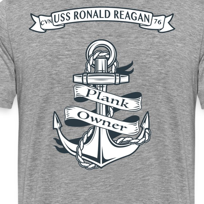 USS RONALD REAGAN PLANK OWNER -  SPECIAL EDITION SLEEVE PRINTS