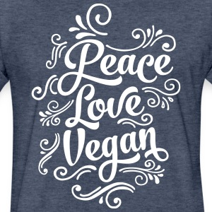 Love Peace Vegan T-Shirts - Fitted Cotton/Poly T-Shirt by Next Level
