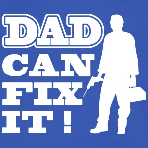 Dad Can Fix It T-Shirts - Men's V-Neck T-Shirt by Canvas