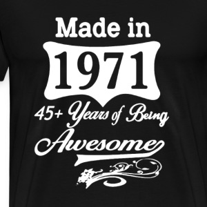 Made In 1971 Awesome - Men's Premium T-Shirt