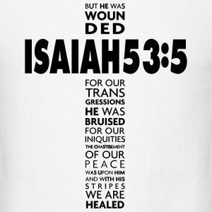 Isaiah 535 Cross T-Shirts - Men's T-Shirt