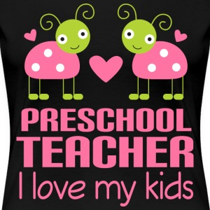 Preschool Teacher Pink Women's T-Shirts - Women's Premium T-Shirt
