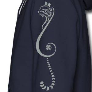 Cat tribal small final 2  Zip Hoodies & Jackets - Men's Zip Hoodie