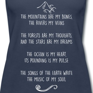 Mountains are my Bones - Wild Woman Tank - Women's Premium Tank Top