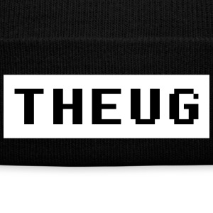 THEUG |The Urban Geek Black And White Sportswear - Knit Cap with Cuff Print