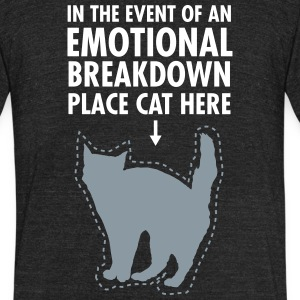 Place Cat Here... T-Shirts - Unisex Tri-Blend T-Shirt by American Apparel