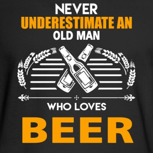 Old Man Loves Beer - Men's Long Sleeve T-Shirt