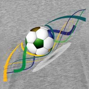 Soccer ball wave art T-Shirts - Men's Premium T-Shirt