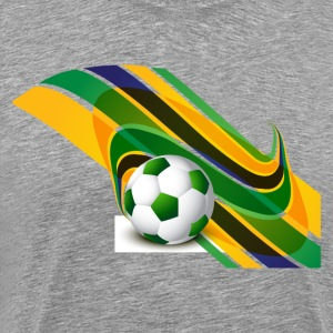 Brazil flag concept stylish wave soccer T-Shirts - Men's Premium T-Shirt