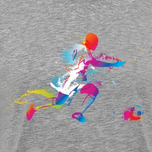 Colorful footballer chasing the ball graphics T-Shirts - Men's Premium T-Shirt