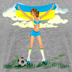 Ukraine soccer girl T-Shirts - Men's Premium T-Shirt