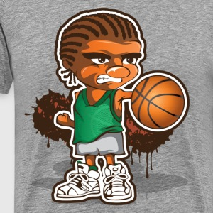 Basketball player cartoon art T-Shirts - Men's Premium T-Shirt