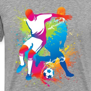 Football players at play T-Shirts - Men's Premium T-Shirt