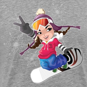 Snow boarding T-Shirts - Men's Premium T-Shirt