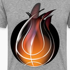 Abstract of volleyball with flame design T-Shirts