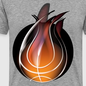 Abstract of volleyball with flame design T-Shirts - Men's Premium T-Shirt
