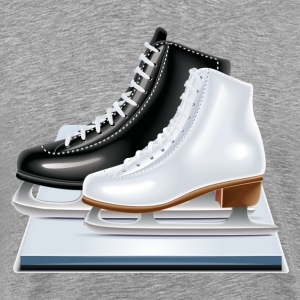 Ice hockey shoes icons T-Shirts - Men's Premium T-Shirt