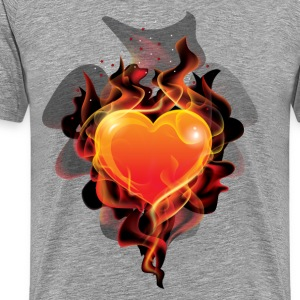 Flame ignition heart T-Shirts - Men's Premium T-Shirt