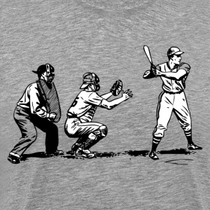 Baseball at bat T-Shirts - Men's Premium T-Shirt
