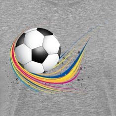 Abstract football green colorful wave T-Shirts