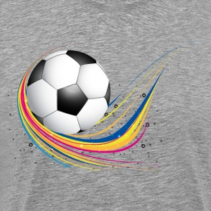 Abstract football green colorful wave T-Shirts - Men's Premium T-Shirt