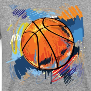 Basketball graffiti art T-Shirts - Men's Premium T-Shirt