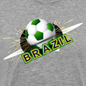 Soccer beautiful texture with brazil colors T-Shirts - Men's Premium T-Shirt