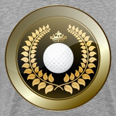 Golden crown golf club shield T-Shirts