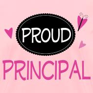 Design ~ Proud Principal Pretty Pink Principal Womens Tshirt
