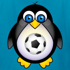 Soccer Player Kid Penguin Kids' Shirts