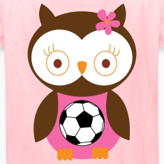 Soccer Player Girl Pink Kids' Shirts