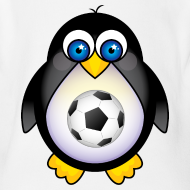 Design ~ Future Soccer Player Penguin Baby T-shirt