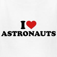 I love Astronauts Kids' Shirts