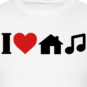 I Love House Music T-Shirt T-Shirts - Men's T-Shirt