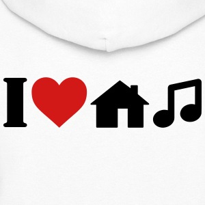 I Love House Music T-Shirt Hoodies - Women's Hoodie