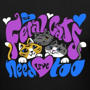 Feral Cats by Calico Dragon Women's T-Shirts - Women's V-Neck T-Shirt