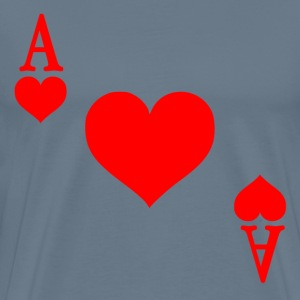 Ace of Hearts - Men's Premium T-Shirt