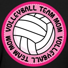 Volleyball Team Mom Cute Women's T-Shirts