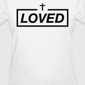 Loved with cross - Women's T-Shirt