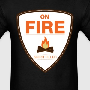 on-fire spirit filled - Men's T-Shirt